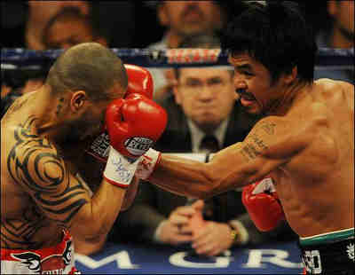 How did Manny Pacquiao make Four Filipinos Drop Dead?